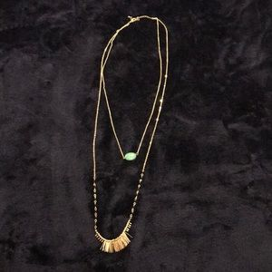 Jewelry - Double chain fashion necklace